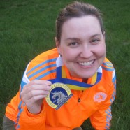 At the finish line, nothing left but pure joy and pride – Kelly Swan Taylor (April 21, 2014)