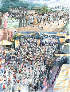 101 Years of Boston: Poster by artist Andrew Yelenak
