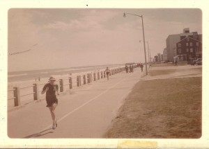 First Virginia Beach marathon: The fight for ninth place (Note the number of runners is matched only by the number of spectators...)