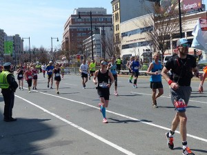 One mile to go in Kenmore Square!