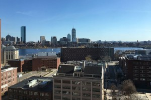 View across the Charles River from our hotel room at the Boston Marriott Cambridge