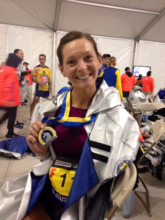 Still managed a genuine smile in the recovery tent - I made it! (Photo: Bean Salmon Wrenn)