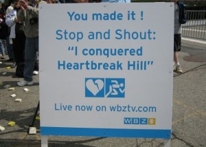 In 1998 I laughed at Heartbreak Hill, in 2010 it kicked my butt!