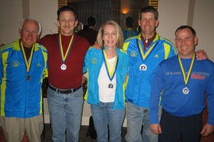 Cruisers proudly wearing our B.A.A. 5K and Boston Marathon medals